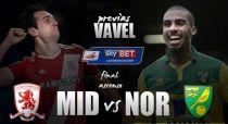 Middlesbrough - Norwich City: sudor de una tarde, comida para un año