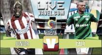 Resultado Junior - Deportivo Cali en Liga Águila 2016-I (2-0)