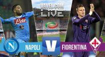 Score Napoli - Fiorentina in Serie A (2-1)