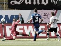 Sandhausen encerra longo jejum e rebaixa Karlsruher à 3. Liga
