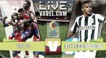 Resultado final: Pasto vs Atlético Nacional (0-2)