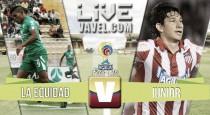 Resultado Equidad vs Junior en Liga Águila 2016-I (0-0)