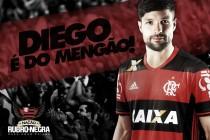 Fim da novela: Diego assina contrato por três anos e é oficializado no Flamengo