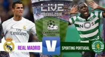 Partita Real Madrid - Sporting Lisbona (2-1) Bruno Cesar porta in vantaggio lo Sporting, pareggio di Ronaldo. Gol vittoria di Morata al '94