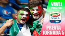 Previa 5ª jornada de la Serie A 2016