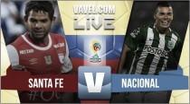 Resultado Santa Fe 0-0 Atlético Nacional en Liga Águila 2016