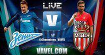 Zenit vs Mónaco en vivo y directo online