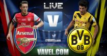 Match Result Arsenal vs Borussia Dortmund Live Commentary and UCL Scores 2014