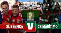 Resultado Benfica vs Marítimo en la Taça da Liga 2015 (2-1)