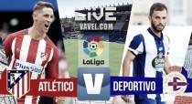 Resultado Atlético de Madrid vs Deportivo de La Coruña en vivo online en La Liga 2016 (0-0)