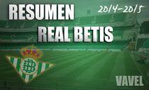 Resumen temporada 2014/15 del Real Betis: retorno al recóndito escondite de las estrellas