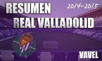 Resumen temporada 2014/15 del Real Valladolid: tempestiva irregularidad pucelana