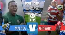 Resultado del Málaga CF vs Granada CF en Liga 2015 (2-2): los blanquiazules pierden vida