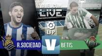 Resultado Real Sociedad vs Real Betis en Liga BBVA 2016(2-1)