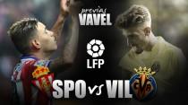 Sporting de Gijón - Villarreal: a una victoria de la salvación