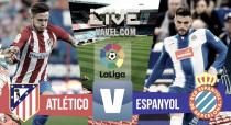 Resultado Atlético de Madrid A vs Espanyol en vivo online en La Liga 2016 (0-0)