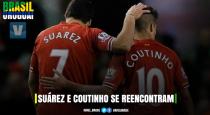 Amigos desde os tempos de Liverpool, Suárez e Coutinho se reencontram nas Eliminatórias