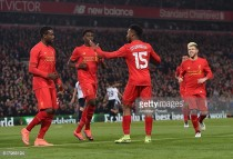 Liverpool 2-1 Tottenham Hotspur: Sturridge's brace sees Reds through to the quarter-final