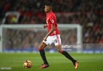 Rashford admits playing wide assists his development as a striker