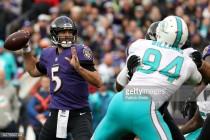 Joe Flacco stars as Baltimore Ravens thrash Miami Dolphins