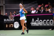 Fed Cup: Kristina Mladenovic levels tie with victory over Belinda Bencic