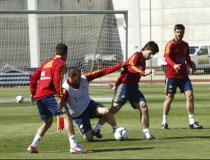 Ramos y Arbeloa, ausentes en la última sesión antes de viajar a Austria