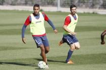 El Arabi se ausenta del entrenamiento y vuelve Salva Ruiz