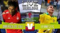 Resultado América de Cali 2-0 Leones por el Torneo Águila 2016
