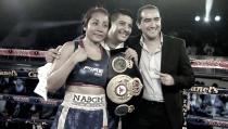 """Pelea electrizante entre las boxeadoras mexicanas """"Avispa"""" Ortiz y """"Muñeka"""" Ramos"""