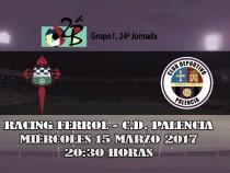 El Racing de Ferrol-CD Palencia, el 15 de marzo a las 20:30 horas