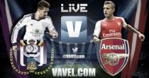 Anderlecht vs Arsenal LIVE: Score, Goals, Result and Stream Commentary of Champions League 2014