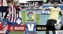 Resultado Atlético de Madrid vs Málaga en vivo online en La Liga 2016