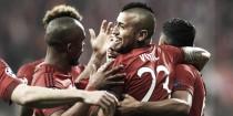 Bayern Munich 1-0 SL Benfica: Vidal's early opener gives Bayern first leg lead