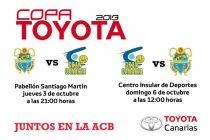 La Copa Toyota se jugará entre el 3 y el 6 de octubre