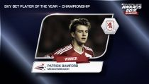 Patrick Bamford, Joe Garner y Danny Mayor, jugadores de la temporada en la Football League