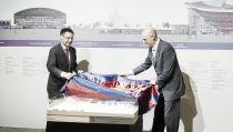 Bartomeu presenta las primeras imágenes de la maqueta del nuevo 'Espai Barça'