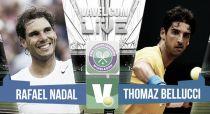 Rafael Nadal vs Thomaz Bellucci en vivo y en directo online en Wimbledon 2015