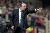 """Benitez: """"Soddisfatto per l'Europa League. Per il terzo posto guardiamo a noi stessi"""""""