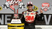 Biffle gets first win of season at Michigan