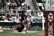 London Sevens: Baker stuns Kiwis, while Scotland knock-out hosts during Twickenham quarter-finals