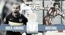 Boca Juniors vs Arsenal de Sarandí en vivo y en directo online (0-0)