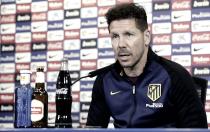 """Simeone: """"Estamos bien posicionados para competir la tercera plaza"""""""