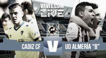 Cádiz - Almería B en directo online (1-0)