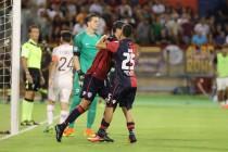 Cuore Cagliari, suicidio Roma. Finisce 2-2 al Sant'Elia