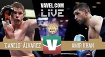 Fulmina Canelo Álvarez a Amir Khan con un espeluznante nocáut en el sexto asalto