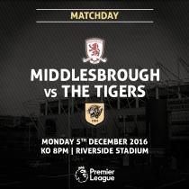 Middlesbrough vs Hull City en vivo y en directo online en Premier League 2016