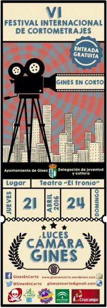 La VI edición de 'Gines en Corto' arrancará el 21 de abril