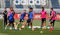 Sesión de recuperación del Real Madrid marcada por las ausencias