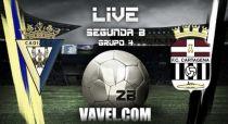 Cádiz - Cartagena en directo online en Segunda División B 2015 (0-0)