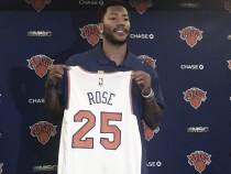 """Rose é apresentado pelos Knicks, lamenta troca, mas agradece Bulls: """"Gostaria de dizer obrigado"""""""